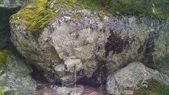 Rock Climbing Photo: The Goose boulder.  A little smaller but nicely fe...
