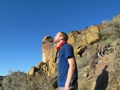 Rock Climbing Photo: Kissin' face at Smith Rock.