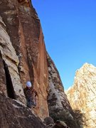 Rock Climbing Photo: Hands free in Red Rocks.