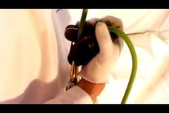 Rock Climbing Photo: Whuddah solid grip he has on da rope