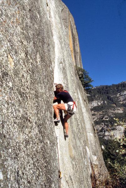 Rock Climbing Photo: Dave Yerian on the Anathema (5.10b)
