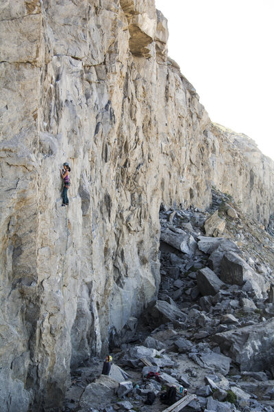 Rock Climbing Photo: Looking down the line.