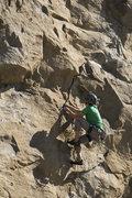 Rock Climbing Photo: Running through the nice crack midway.