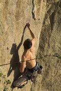 Rock Climbing Photo: Mike crimping hard