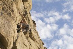 Rock Climbing Photo: Climbing through the clouds.