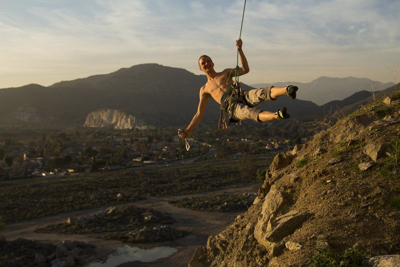 Rock Climbing Photo: I think he was happy to have pulled all of the mov...