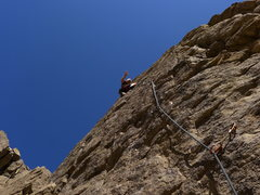 Rock Climbing Photo: Mike Arechiga on, Coming Attractions. 5.8