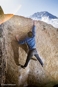 Rock Climbing Photo: Derrick Krause sends Stained Glass, v10.  photo by...