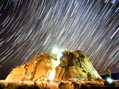 Rock Climbing Photo: Timelapse of a midnight ascent Video version here ...