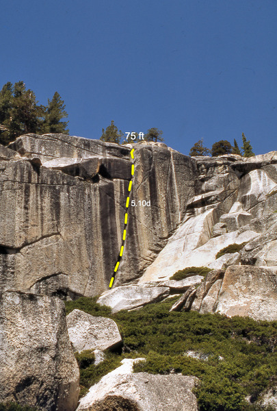 Rock Climbing Photo: Line of Lord Caffeine (5.10d), Olmsted Canyon