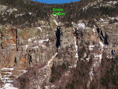 """Rock Climbing Photo: Green Chasm and the other two """"Chasms"""" (..."""