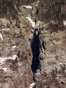 Rock Climbing Photo: Super Telephoto of Green Chasm