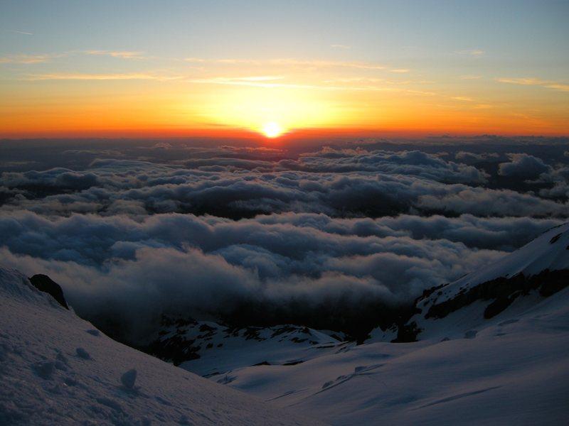 Sunset at Illumination Saddle.