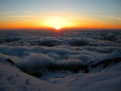 Rock Climbing Photo: Sunset at Illumination Saddle.
