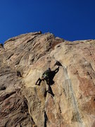 "Rock Climbing Photo: Mike on""Screaming for vengeance"" 5.10c**..."