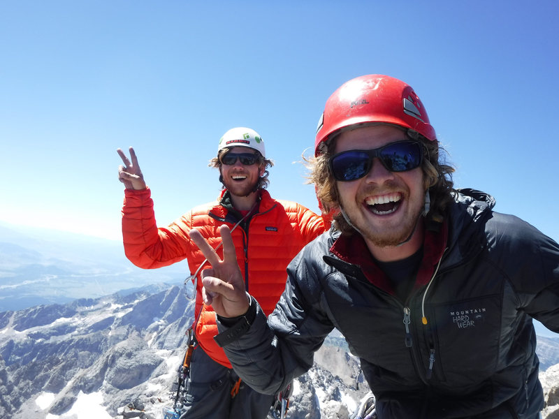 Rock Climbing Photo: On top of the Grand Teton with my favorite climbin...