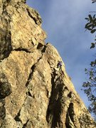 Rock Climbing Photo: Climber on Coronor