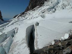 Rock Climbing Photo: Crevasse on Ingraham Glacier, Mt. Rainier N.P.