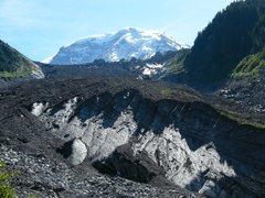 Rock Climbing Photo: Carbon Glacier, Mt. Rainier N.P.