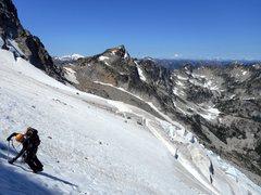 Rock Climbing Photo: Jason W. crossing the Stuart Glacier on Mount Stua...