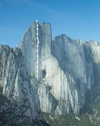 The striking wall of Pico Independencia, Parque La Huasteca, Mexico