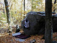 Rock Climbing Photo: First ascent of Shufflin' Off to Buffalo
