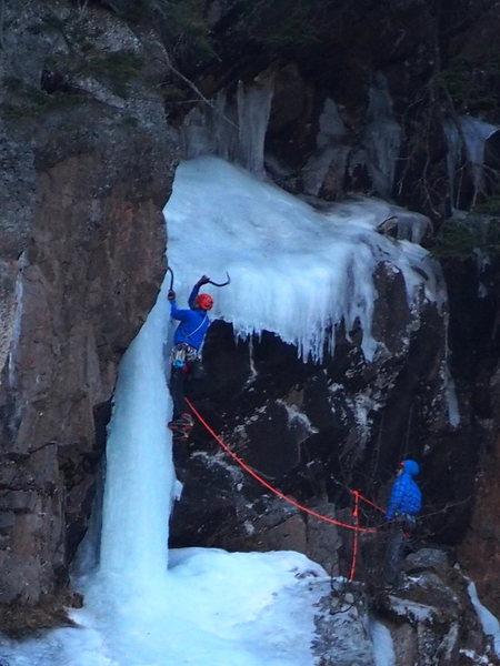 Swinging on the upper pillar  2/2/16