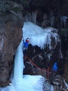 Rock Climbing Photo: Swinging on the upper pillar  2/2/16