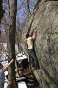 Rock Climbing Photo: Brian at the crux.