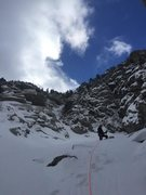 Rock Climbing Photo: Tons of deep powpow in the gully that day!