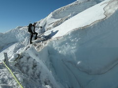 Rock Climbing Photo: Route finding on the Ingraham Glacier.