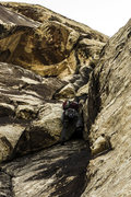 Rock Climbing Photo: Brett climbs p3, Healy's Haunted House. April 7, 2...