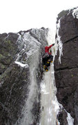 Rock Climbing Photo: Bill Schneider leads the chimney of pitch 2 on By ...
