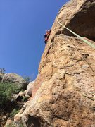 Rock Climbing Photo: Mike working things out on TR before his redpoint ...