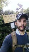 Rock Climbing Photo: Warning Sign