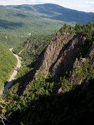 Rock Climbing Photo: Dixville Notch, Looking East