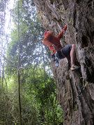 Rock Climbing Photo: James casually killing it
