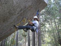 Rock Climbing Photo: Practicing aid