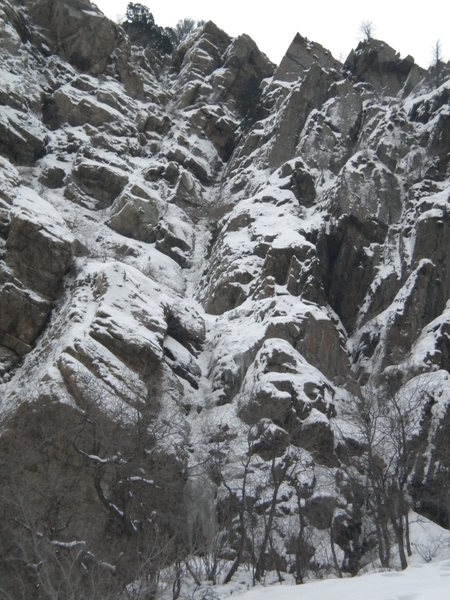 Rock Climbing Photo: The Scottish Gully!