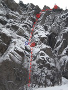 Rock Climbing Photo: The route line