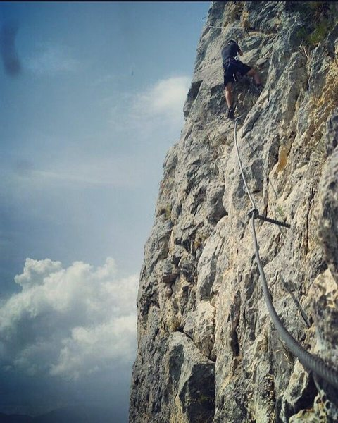 Rock Climbing Photo: Klettersteigen in Austria