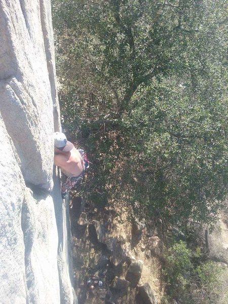 Rock Climbing Photo: Sunday Y crack climb