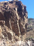 Rock Climbing Photo: Overhanging wall of RIver Bend Right. All lines ar...