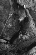 Rock Climbing Photo: Getting in to the hard part