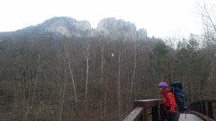Rock Climbing Photo: Seneca on a snowy February day.