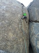 Rock Climbing Photo: Cruising through on the first ascent.