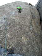 Rock Climbing Photo: Moving into the crux section.