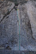 Rock Climbing Photo: Pipe Cleaner - 160ft of varied fun