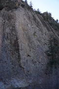 Rock Climbing Photo: Ending Crack and Tree Route