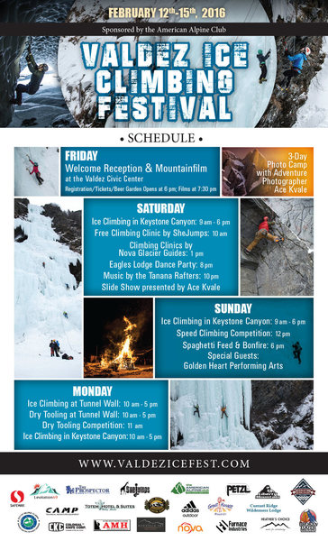 Tara makes another amazing flyer for us and we send it out a week before ice fest kicks off!